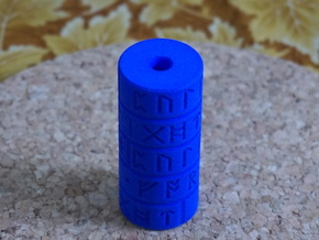 Runic Pull Cord Weight in Blue Processed Versatile Plastic