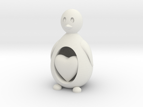 Penguin with a Heart in White Strong & Flexible