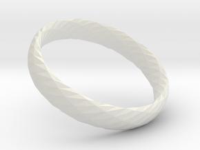 Twistium - Bracelet P=170mm h15 in White Natural Versatile Plastic