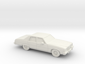 1/87 1977 Pontiac Bonneville Sedan in White Natural Versatile Plastic