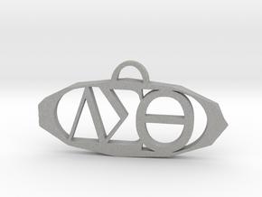 Delta Sigma Theta Pendant in Raw Aluminum