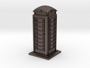 TT Gauge Phone Box in Polished Bronzed Silver Steel