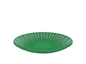 Fruit bowl in Green Processed Versatile Plastic