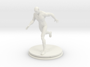 The Flash Statue (15cm) in White Natural Versatile Plastic