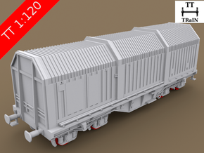 TT Scale Shimms Wagon complete set (EU) in Smooth Fine Detail Plastic