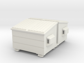 Dumpster 72:1 Scale (2) in White Natural Versatile Plastic