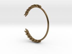 Wheat Bracelet in Natural Bronze: Medium