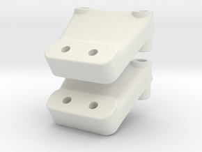 YZ2 - Nozzle Wing Mount in White Strong & Flexible