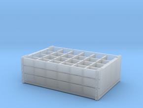1:35 Wooden Bottle Crate - 24 bottle in Smooth Fine Detail Plastic