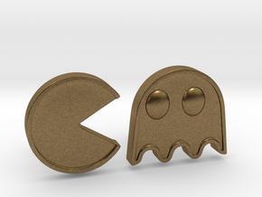 Packman Cufflinks in Natural Bronze