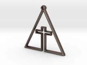 CROSS IN TRI in Stainless Steel