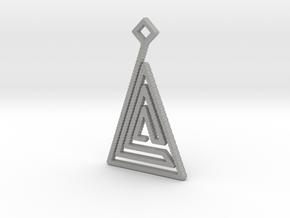 Triangle Pendant in Aluminum
