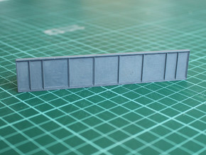 N Scale Bridge Girder in Smooth Fine Detail Plastic