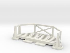 Basic Bulkhead Balcony V1  in White Natural Versatile Plastic