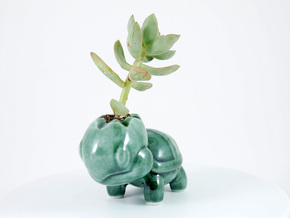 Ceramic Turtwig in Gloss Oribe Green Porcelain