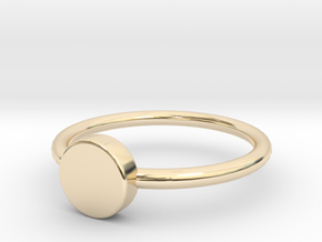 Button Ring Size 5 in 14K Yellow Gold