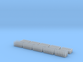 1:35 Bottles and Crates - 140 Bottles/5 Crate in Smooth Fine Detail Plastic