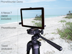 Samsung Galaxy Tab A & S Pen tripod mount in Black Natural Versatile Plastic