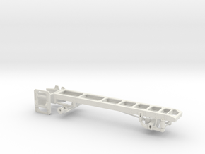1/50th Single Axle Truck Frame  in White Natural Versatile Plastic