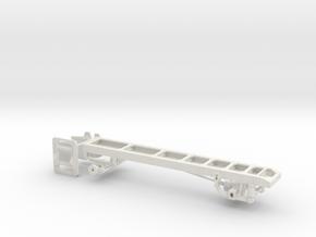 1/50th Single Axle Truck Frame  in White Natural Versatile Plastic