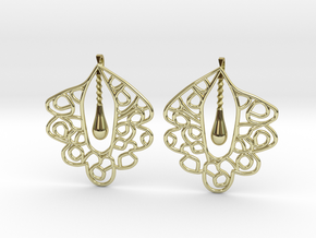 Granada Earrings (Plane Shape). in 18k Gold Plated Brass