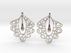 Granada Earrings (Plane Shape). in Platinum
