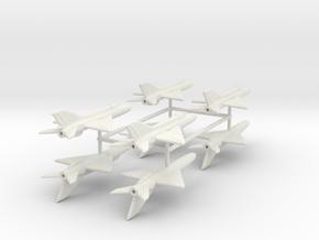 1/350 MiG-21bis (x8) in White Natural Versatile Plastic
