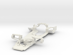 Mclaren M23 Scalextric conversion chassis in White Natural Versatile Plastic