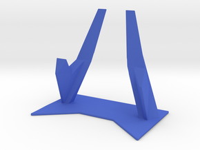 Elevated Smartphone Stand in Blue Processed Versatile Plastic