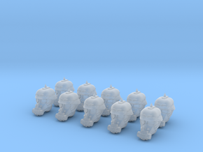 Dieselpunk soldier heads in Frosted Extreme Detail
