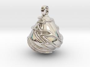 KATU in Rhodium Plated Brass