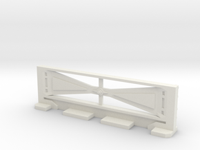 Basic Bulkhead Rail 2  in White Natural Versatile Plastic
