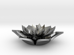 Full Lotus in Polished Silver