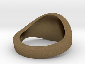 Illuminati Ring in Natural Bronze