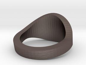 Illuminati Ring in Polished Bronzed Silver Steel