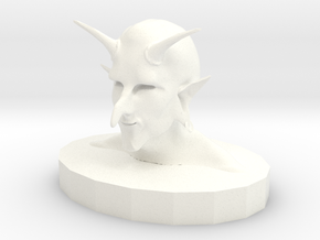 Troll Demon in White Processed Versatile Plastic