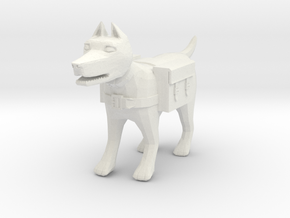 Adventuring Pack-Dog in White Natural Versatile Plastic