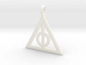 Harry Potter Deathly Hallows Pendant in White Processed Versatile Plastic