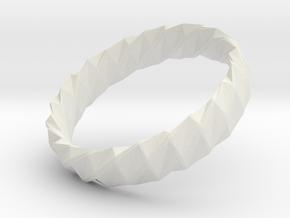 Twistium - Bracelet P=170mm h15 Alpha in White Natural Versatile Plastic