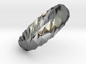 Twistium - Bracelet P=180mm h15 Alpha in Polished Silver