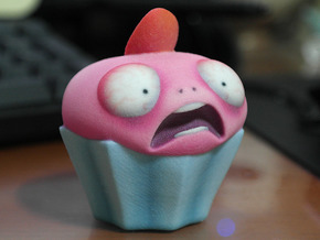Cupcake Monsters - STRAWBERRY PINK in Full Color Sandstone