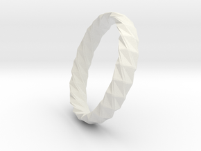 Twistium - Bracelet P=200mm h15 Alpha in White Natural Versatile Plastic
