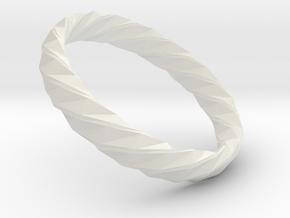 Twistium - Bracelet P=210mm h15 Alpha in White Natural Versatile Plastic