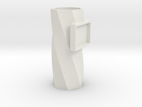 Vase With Picture Frame v1 in White Natural Versatile Plastic