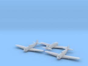 Kawasaki Ki-100 Type 5 Fighter 1/285 x3 FUD in Smooth Fine Detail Plastic