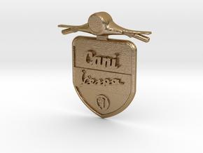 Emblem 3D Canivespa 5,5 cm in Polished Gold Steel