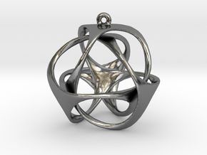 Triloop Pendant in Polished Silver