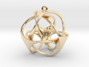 Triloop Pendant in 14k Gold Plated Brass