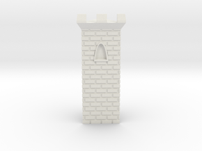 Castle Panic Castle Piece in White Strong & Flexible