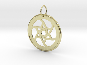 Spiral Star Pendant in 18k Gold Plated